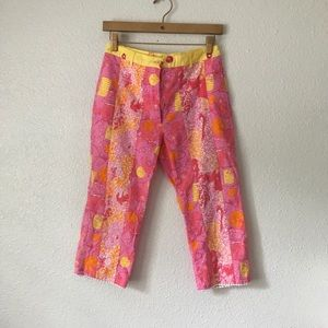 Vintage Lilly Pulitzer pink and yellow pants
